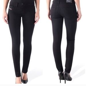 Diesel Livier Super Slim Jegging Black SZ 24 EUC